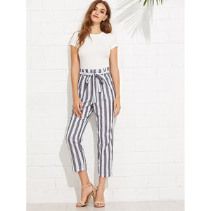Striped Ankle Pencil Pant - SkyeClothes