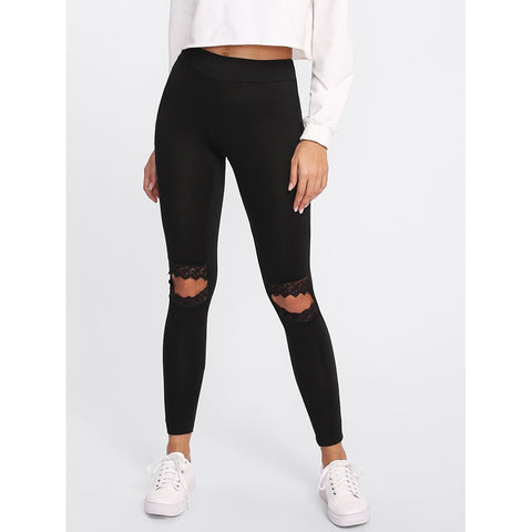Mesh Knee Leggings - SkyeClothes