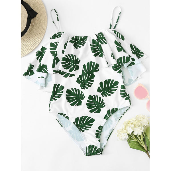 Palm Print Tropical Swimsuit - SkyeClothes