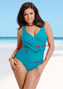 Retro Criss Cross One-Piece - SkyeClothes