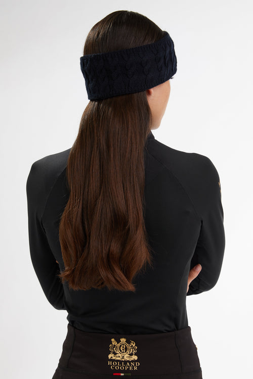 Luxe Cable Knit Headband (Ink Navy)