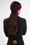 Luxe Cable Knit Headband (Mulberry)