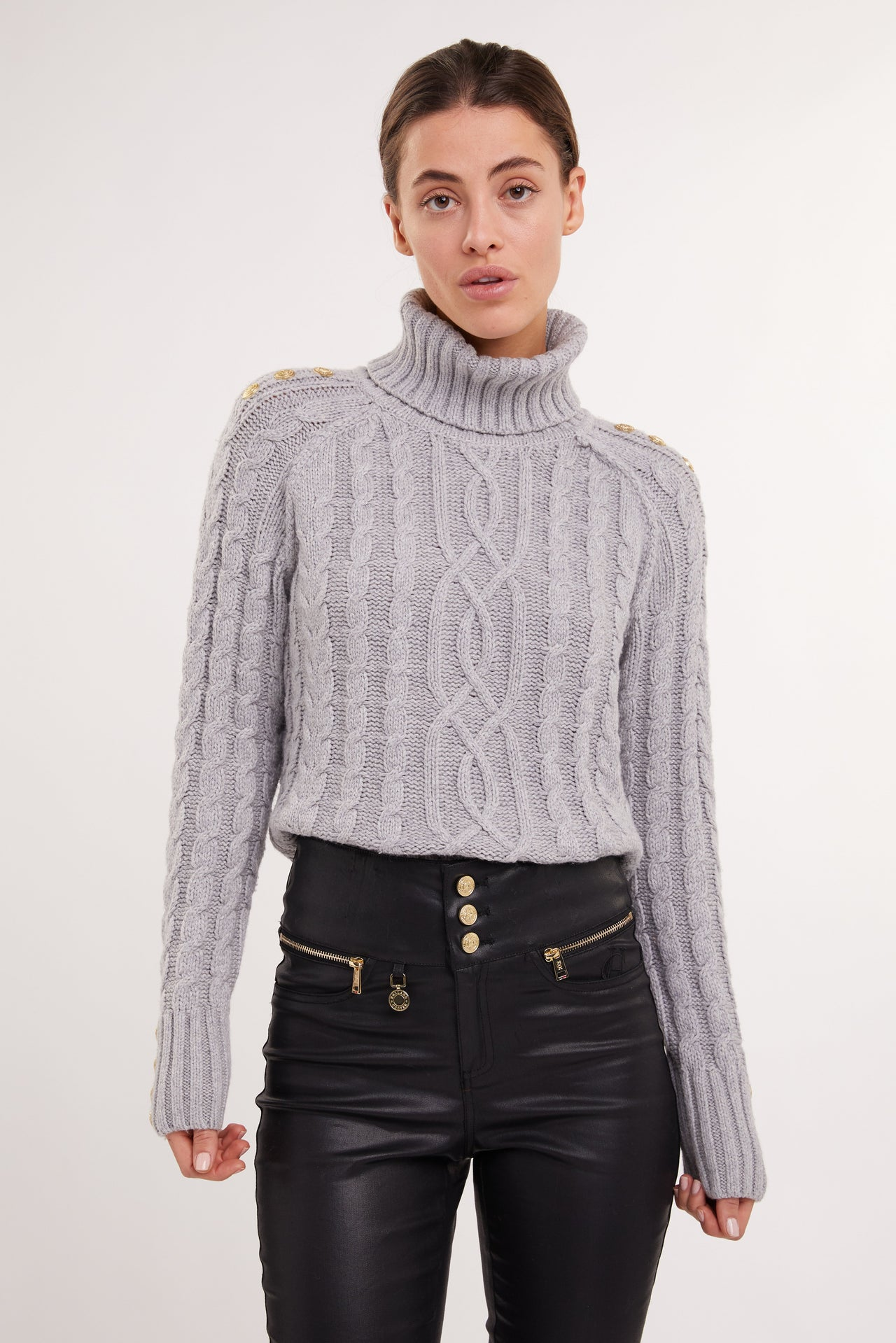 Portland Chunky Cable Jumper (Grey)