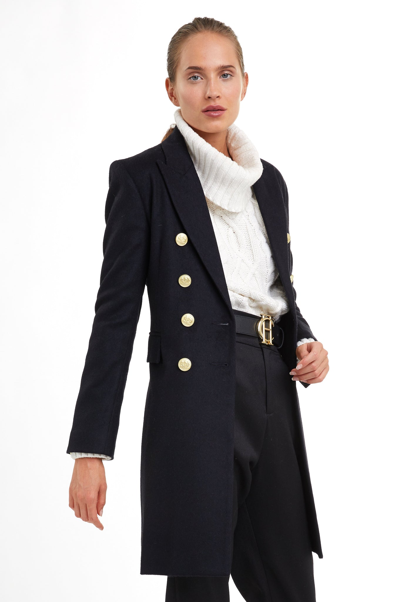 Knightsbridge Coat (Soft Navy)