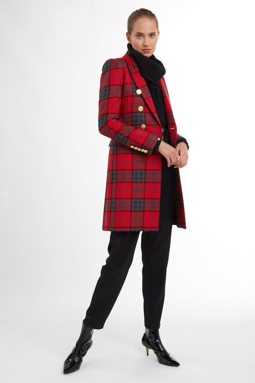 Knightsbridge Coat (Red Tartan)