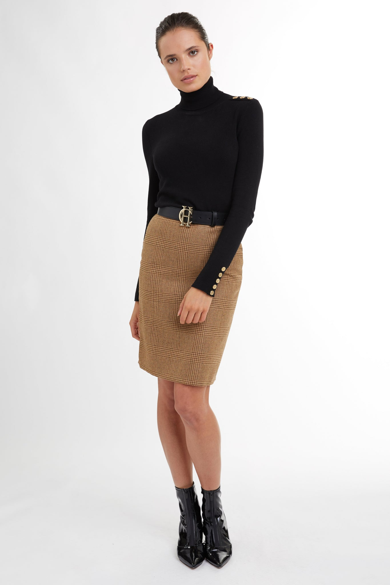 Chelsea Pencil Skirt (Tawny)