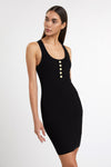 Luxe Knit Bodycon Dress (Black)