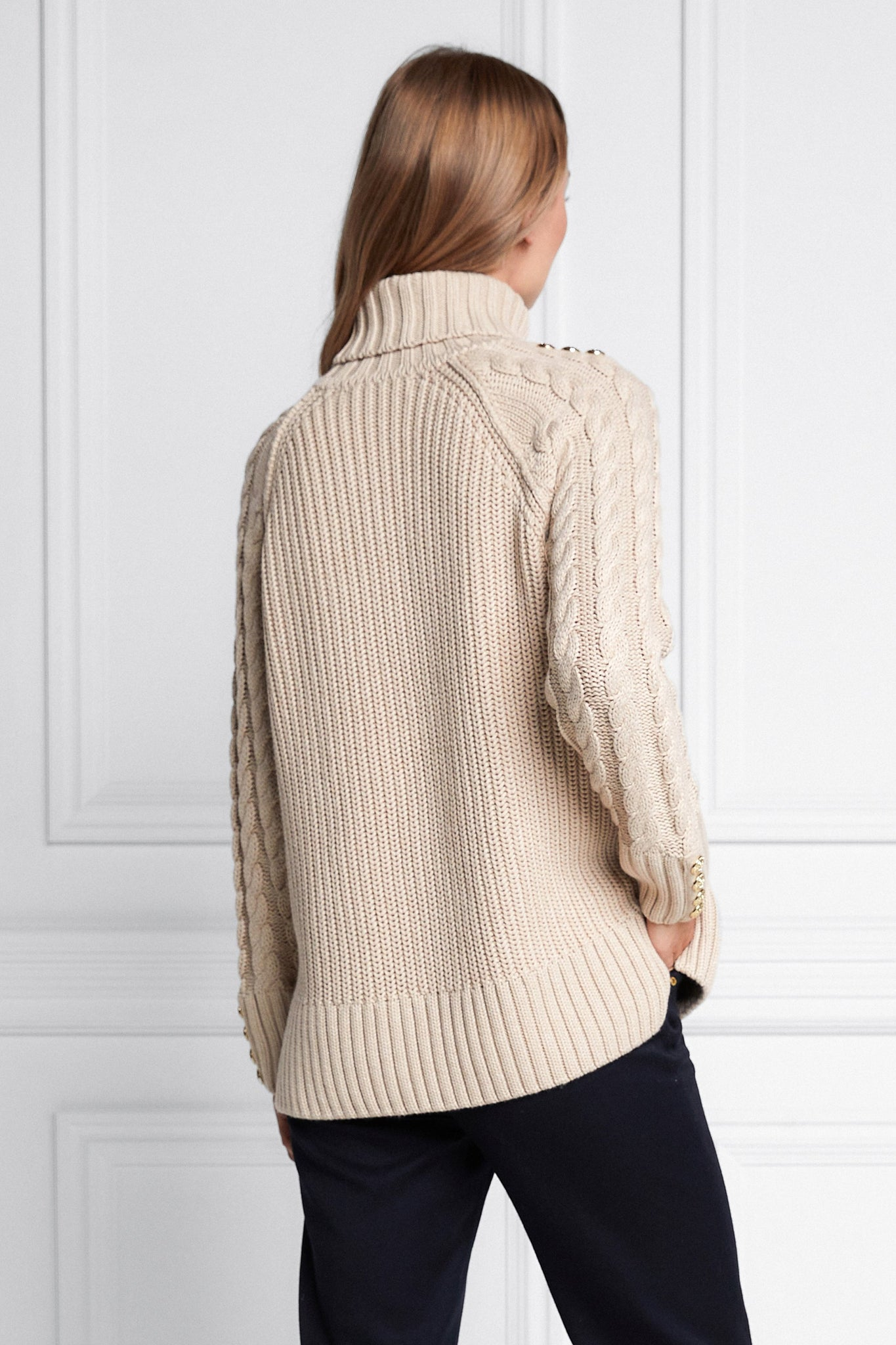 Greenwich Cable Knit (Oatmeal)