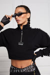 Studio Cropped Sweat (Black)