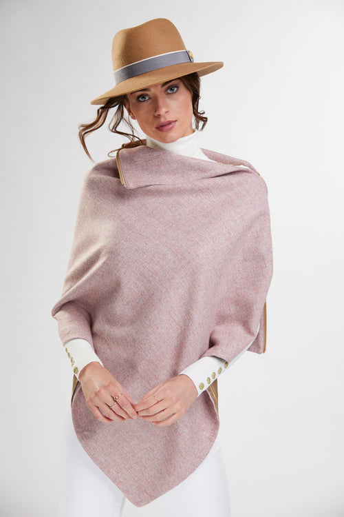 Tweed Wrap (Soft Pink)