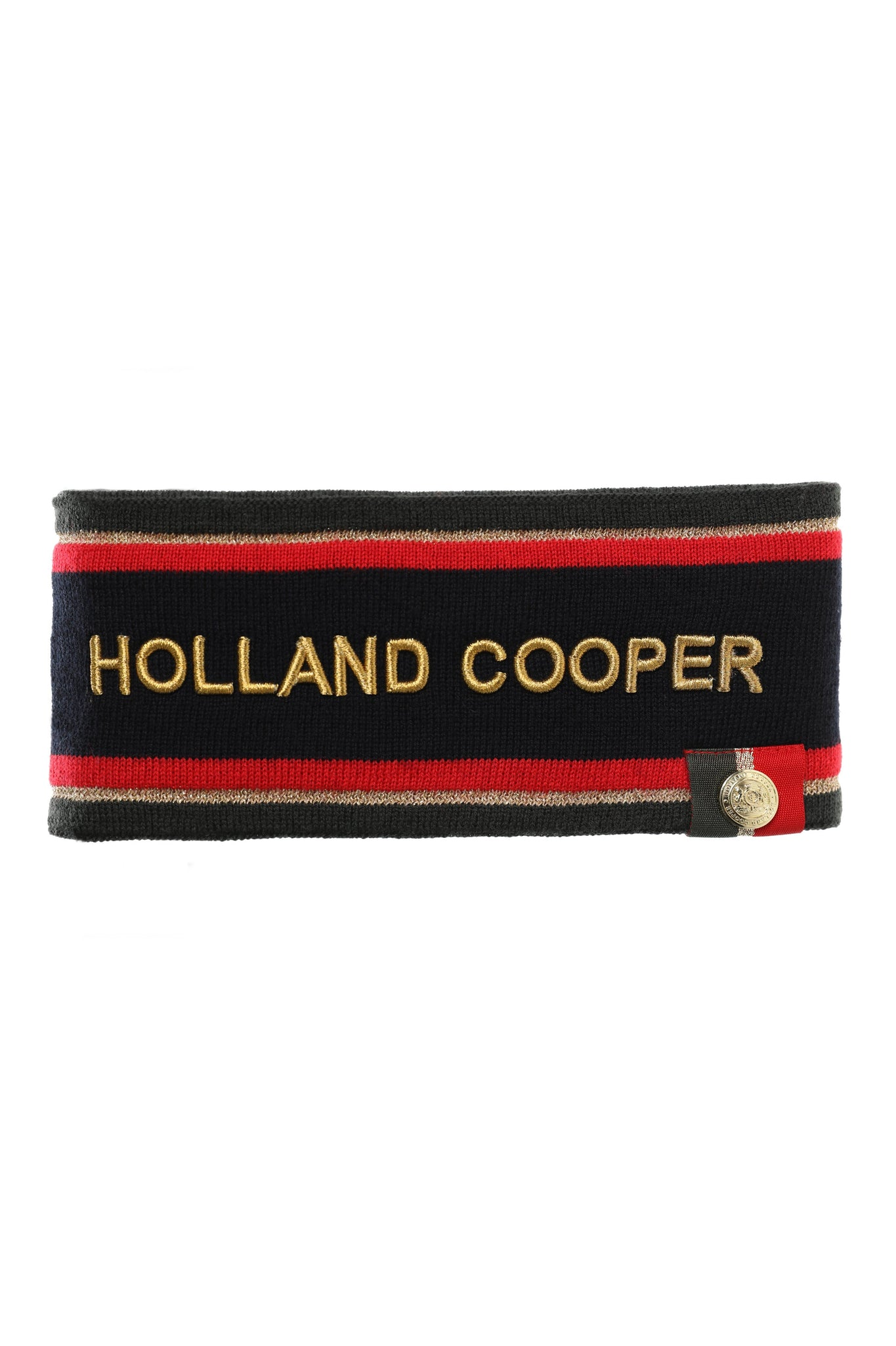 Iconic Tri-Colour Headband (Black)