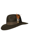 Trilby Hat (Green/Feather)