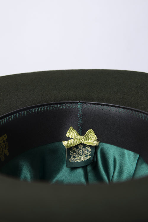 Trilby Hat with Feather Band (Green)