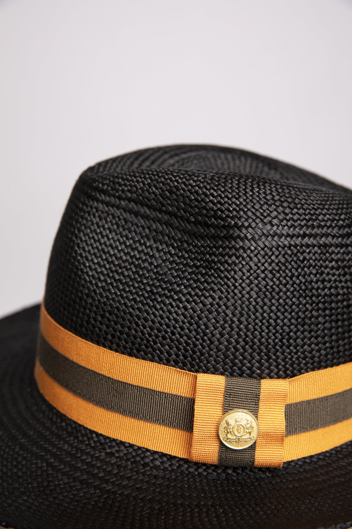 Panama Hat (Black with Orange/Green)