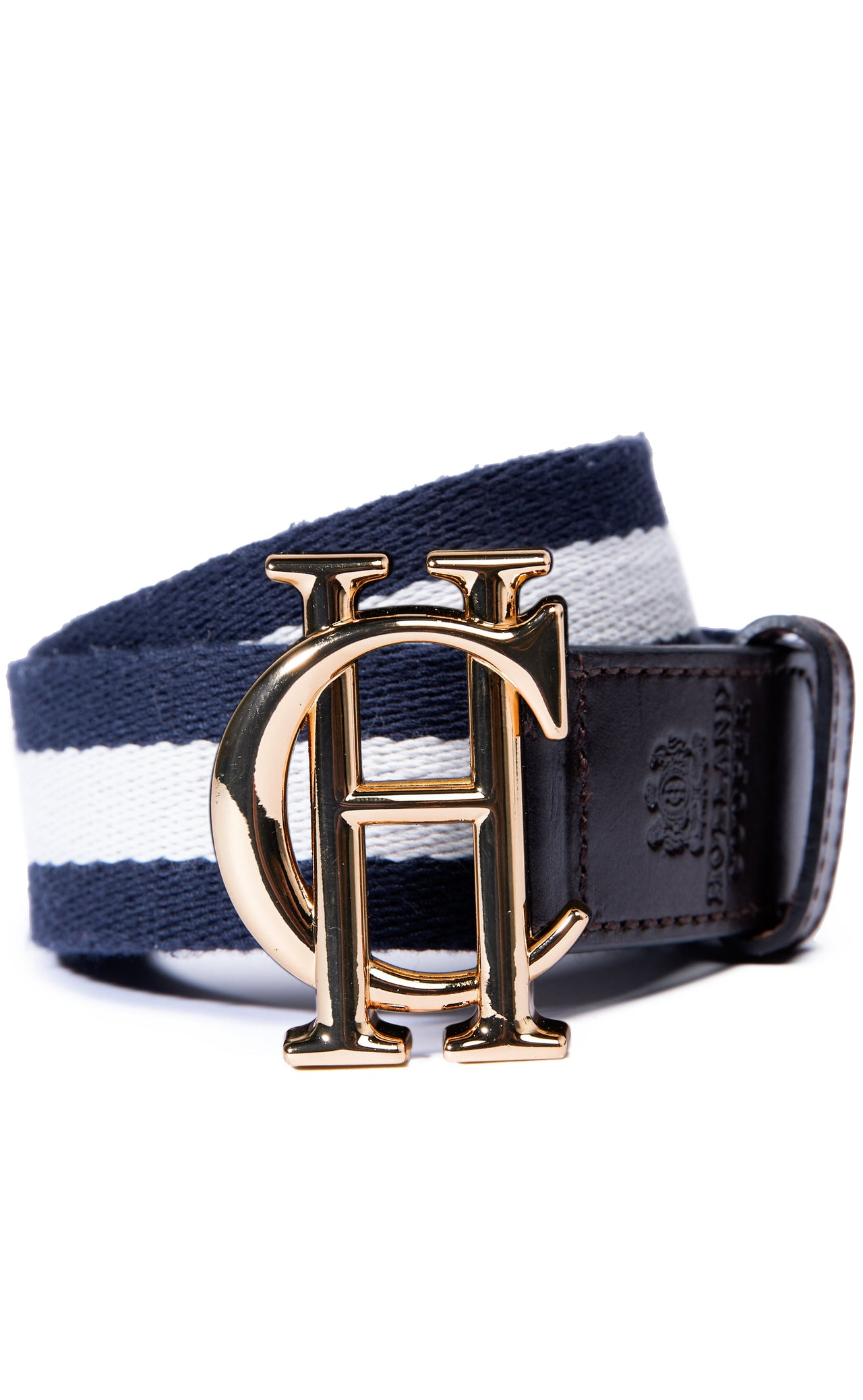HC Classic Belt (Brown with Navy & White)