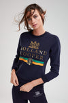 HC Luxe Stripe Sweatshirt (Ink Navy)