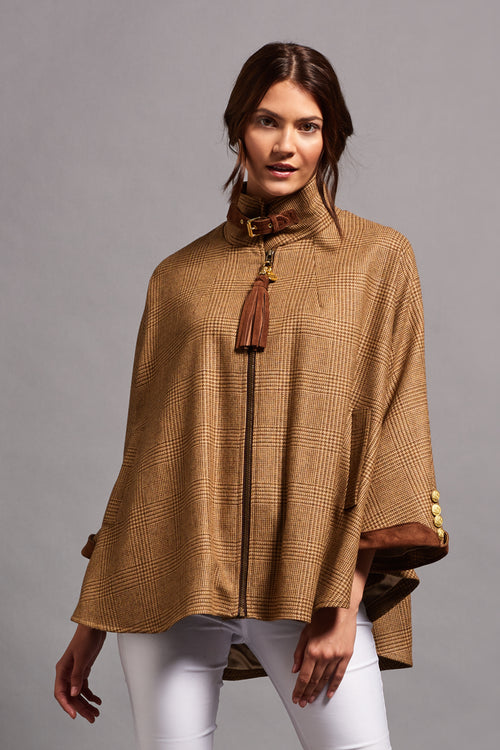 The Cooper Tweed Cape (Tawny/Rich Tea)