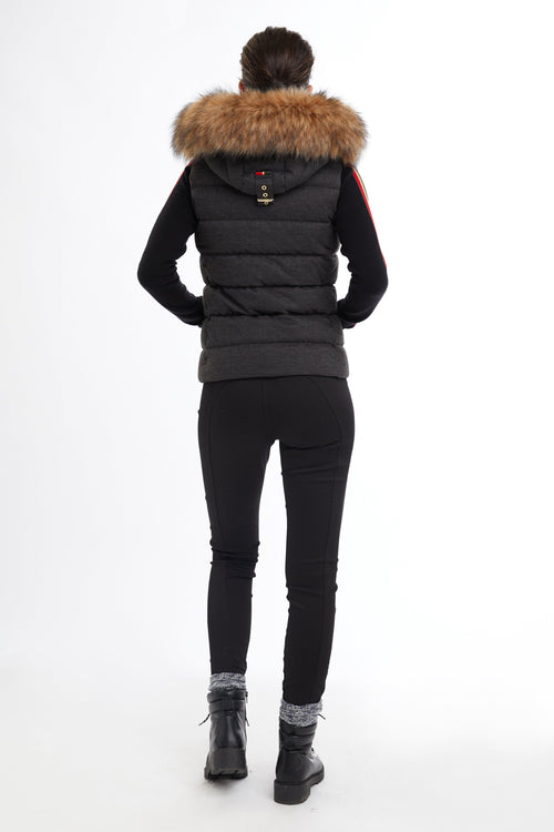 Heritage Faux Fur Gilet (Charcoal)