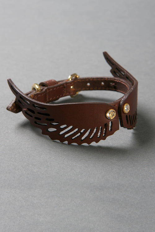 Angel Wing Collar (Brown)