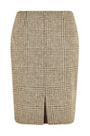 Chelsea Pencil Skirt (Brown Prince of Wales Check)