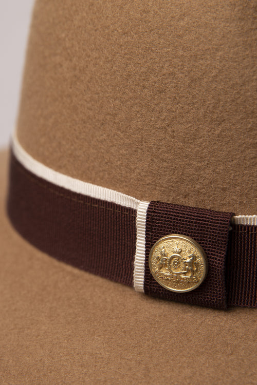 Trilby Hat (Camel/Brown)
