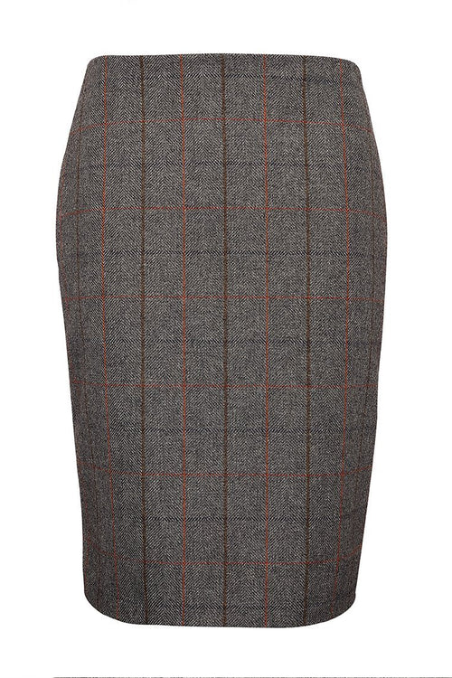 Chelsea Pencil Skirt (Mid Blue Check)