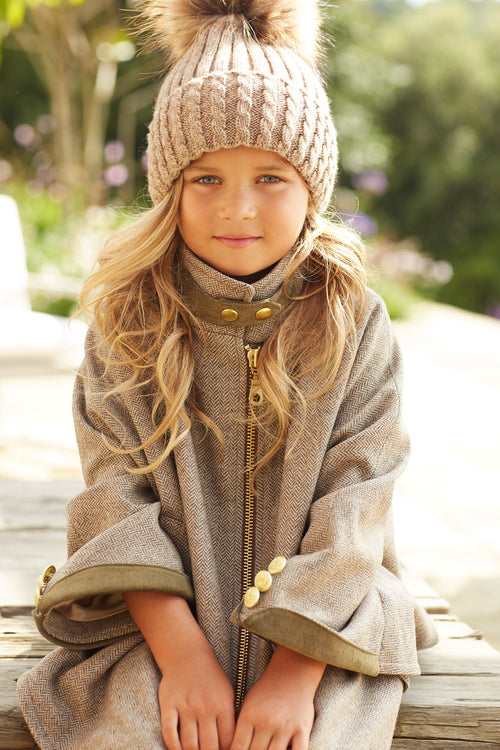 Childrens Cooper Cape (Stone)