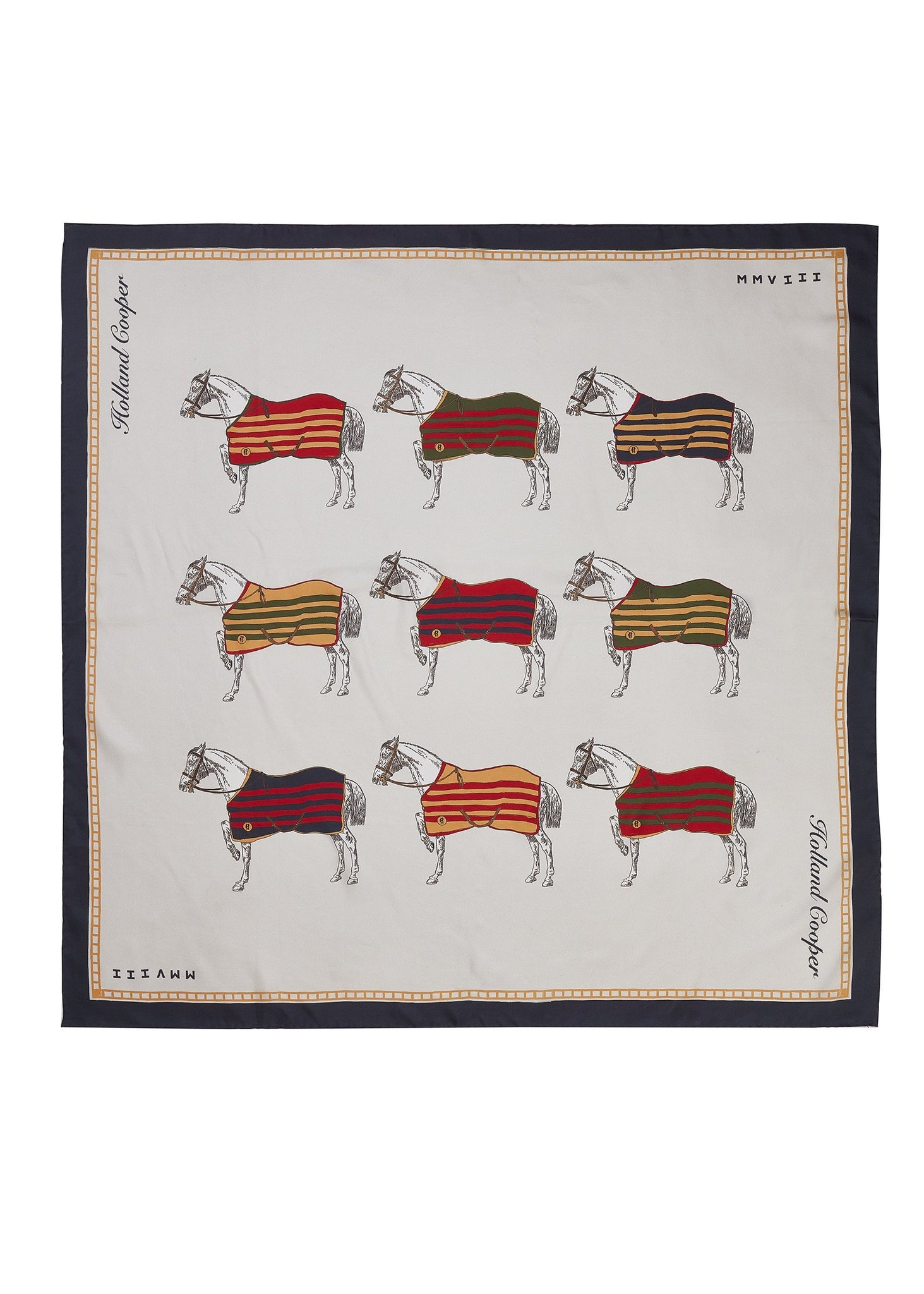 Nine Horse Silk Scarf (Nine Horse)