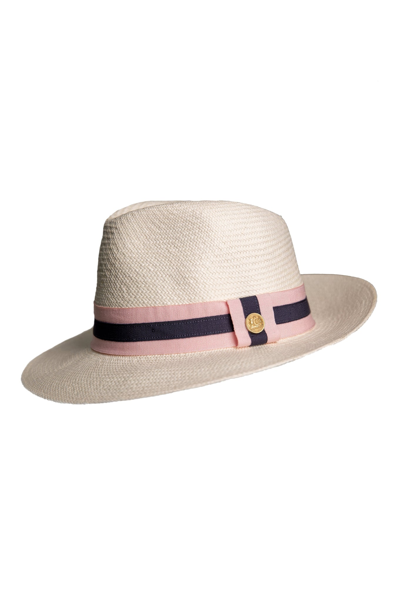 Panama Hat (Cream with Pink/Navy)