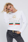 HC Luxe Stripe Sweatshirt (White)