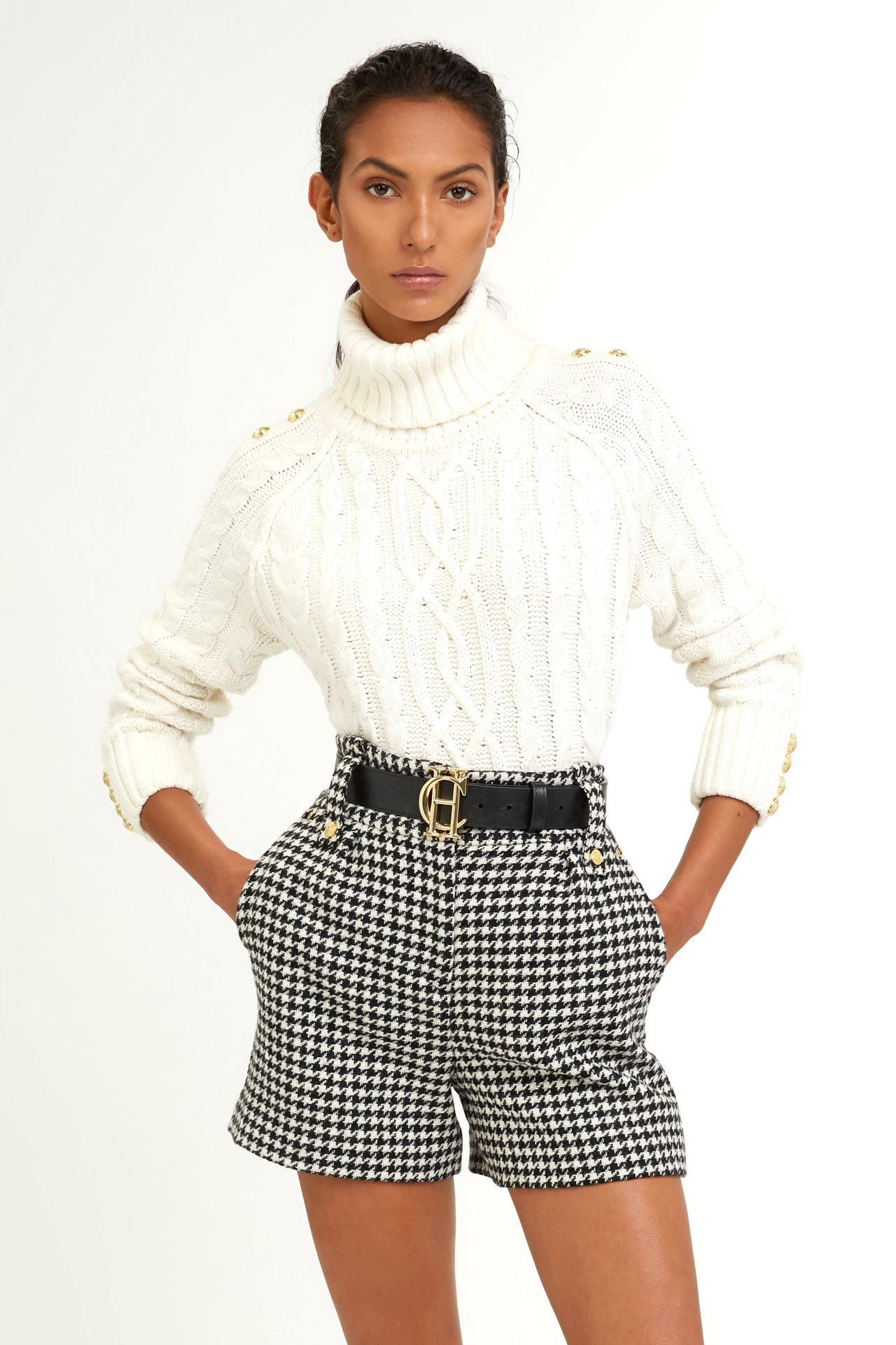 Luxe Tailored Short (Houndstooth)