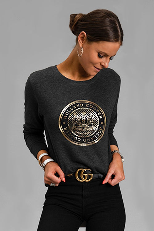 HC Metallic Sweatshirt (Charcoal)