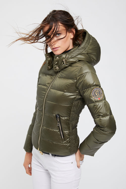 Megeve Down Puffer Coat (Olive)