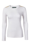 Long Sleeve Crew Neck Tee (White)