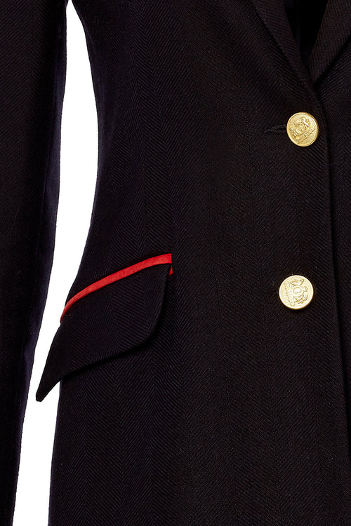 Kempton Coat (Navy/Red)
