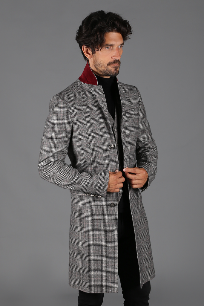 f277f85ebabc Finsbury Over Coat (Prince of wales check) – Holland Cooper