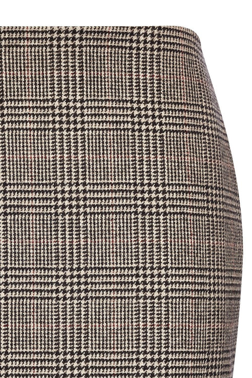 Chelsea Pencil Skirt (Black Prince of Wales Check)