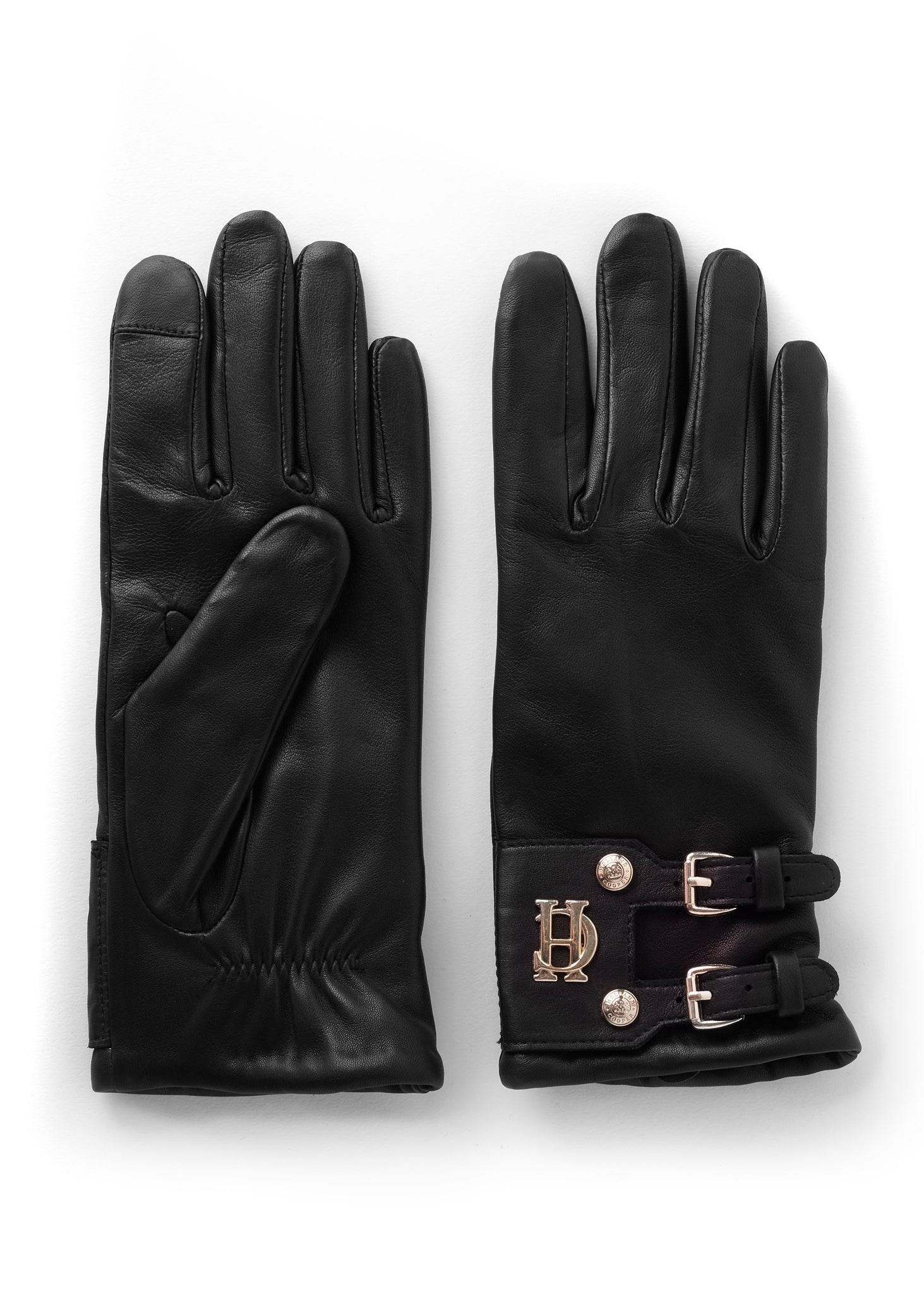 Monogram Leather Gloves (Black)
