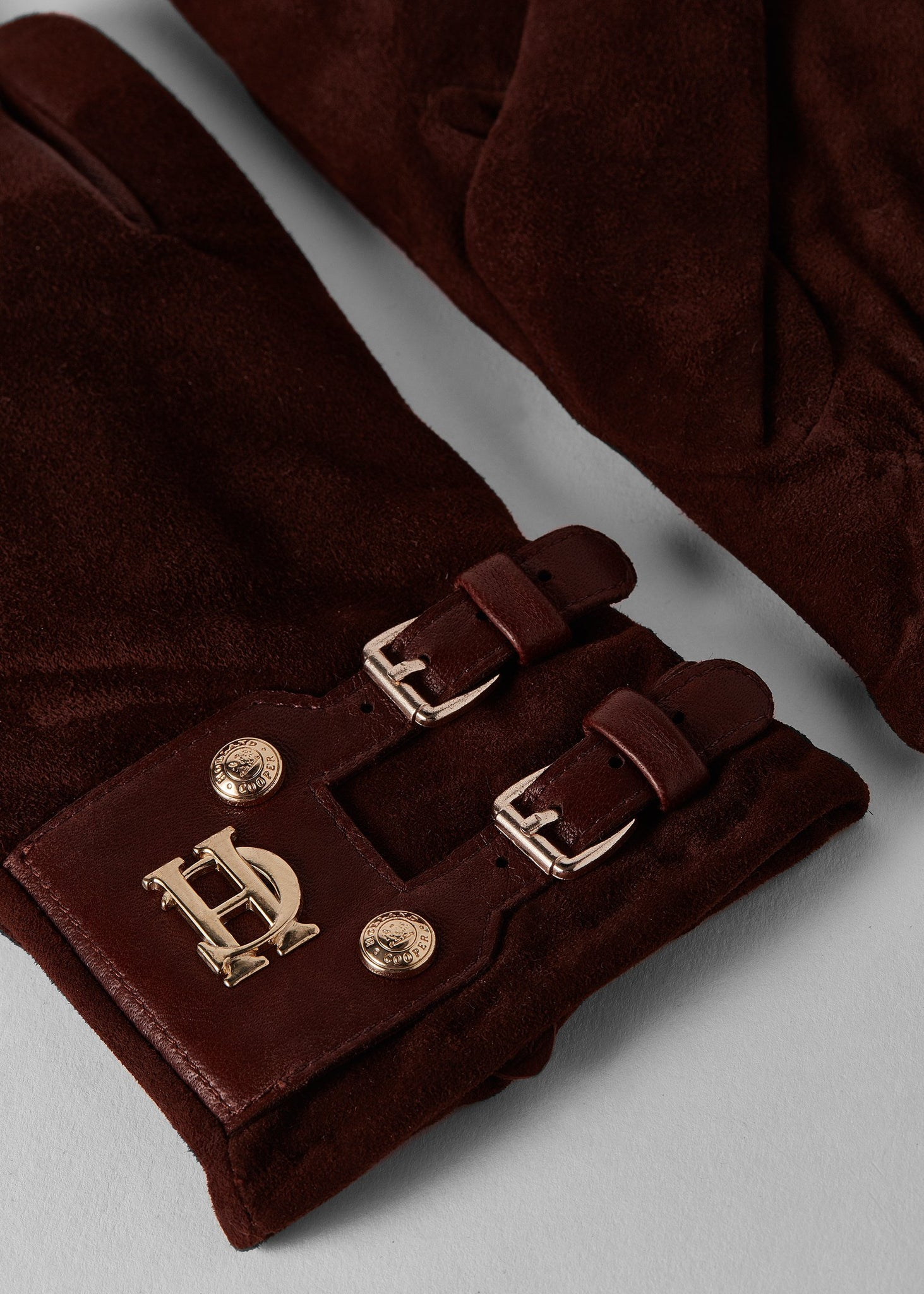 Monogram Suede Gloves (Chocolate)