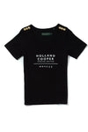 Serif Vee Tee (Black-White)