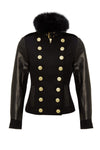 Wellington Jacket (Black/Black Fur)