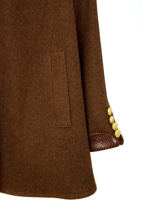 The Cooper Tweed Cape (Tobacco/Brown Snake)