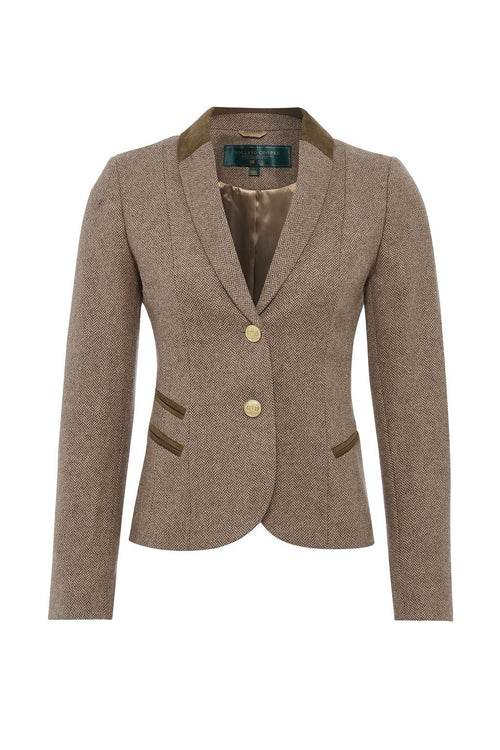 Sporting Jacket (Stone Herringbone)