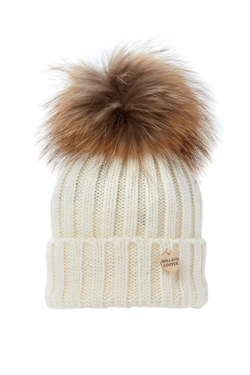 Children's Bobble Hat (Cream)