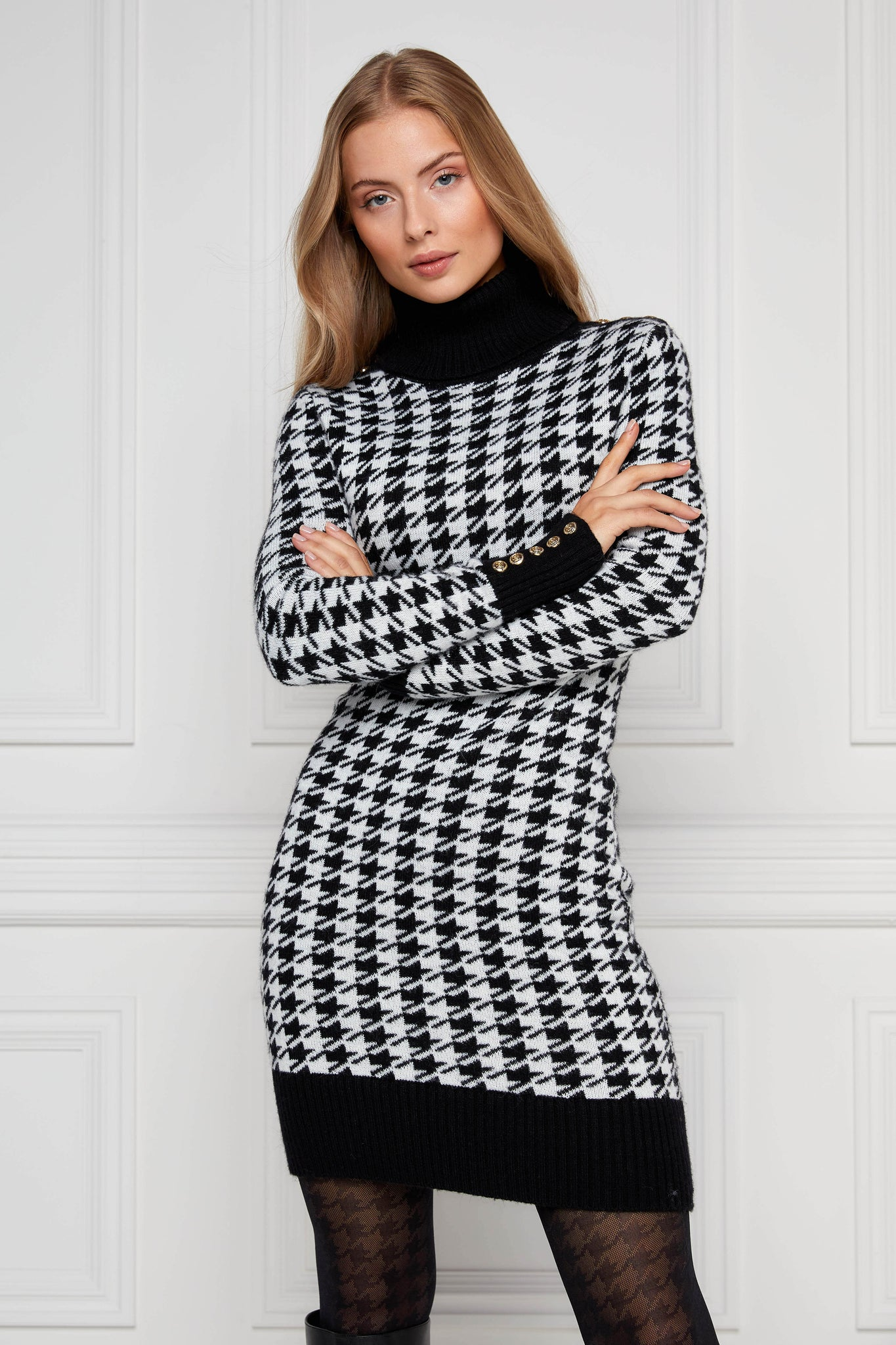 Heritage Jumper Dress (Houndstooth)
