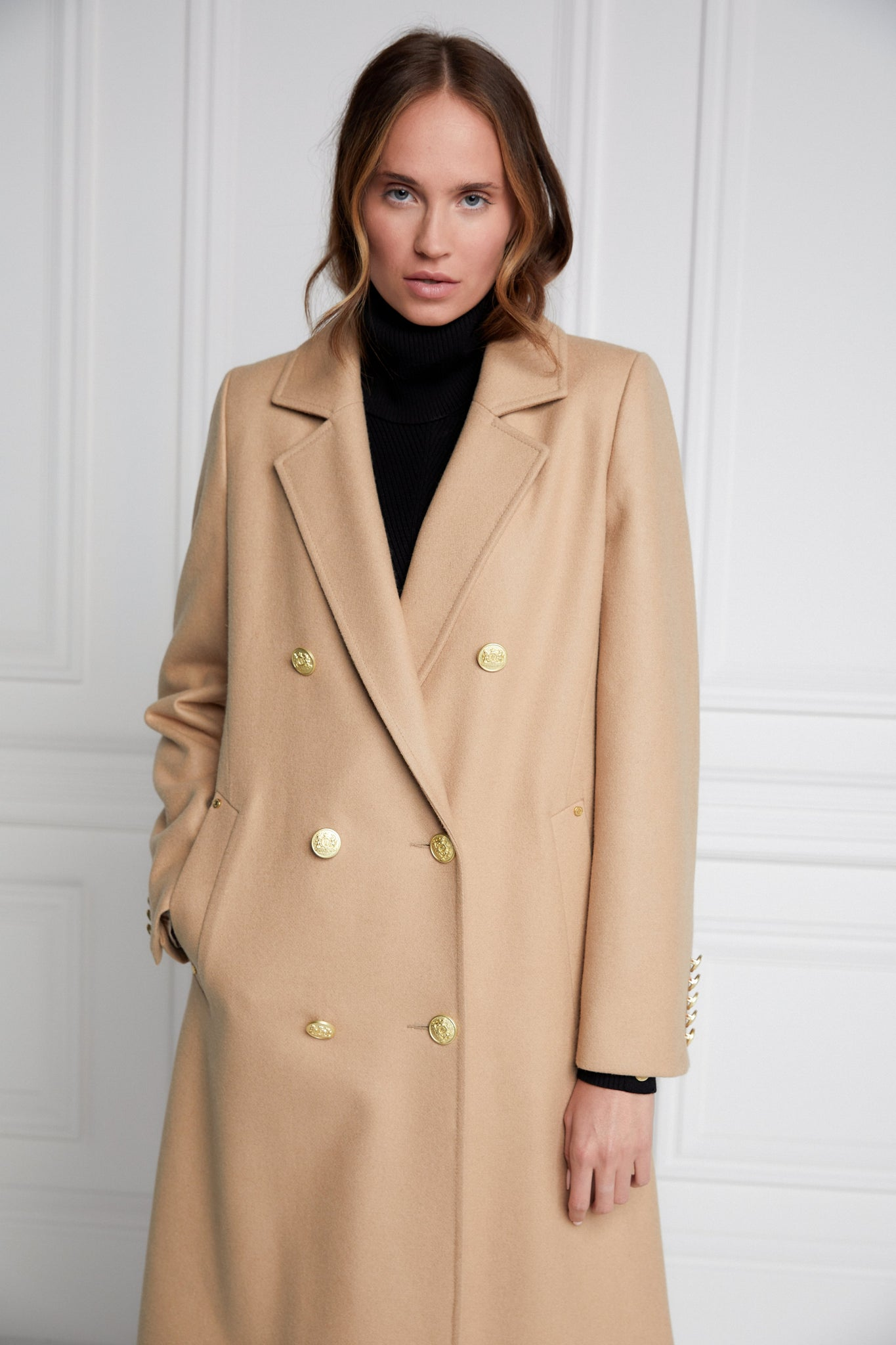 Double Breasted Coat (Camel)