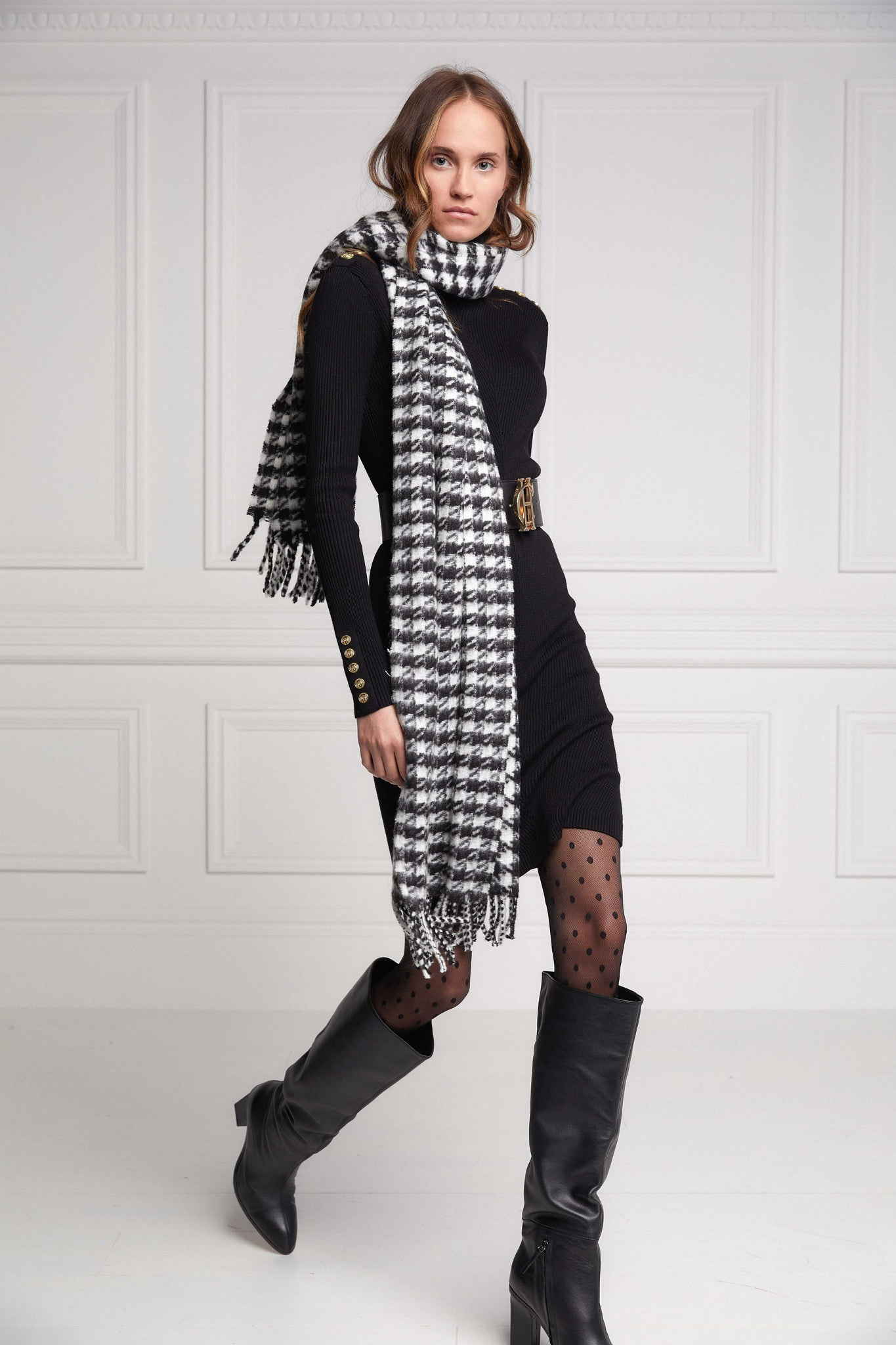 HC Chelsea Scarf (Houndstooth)