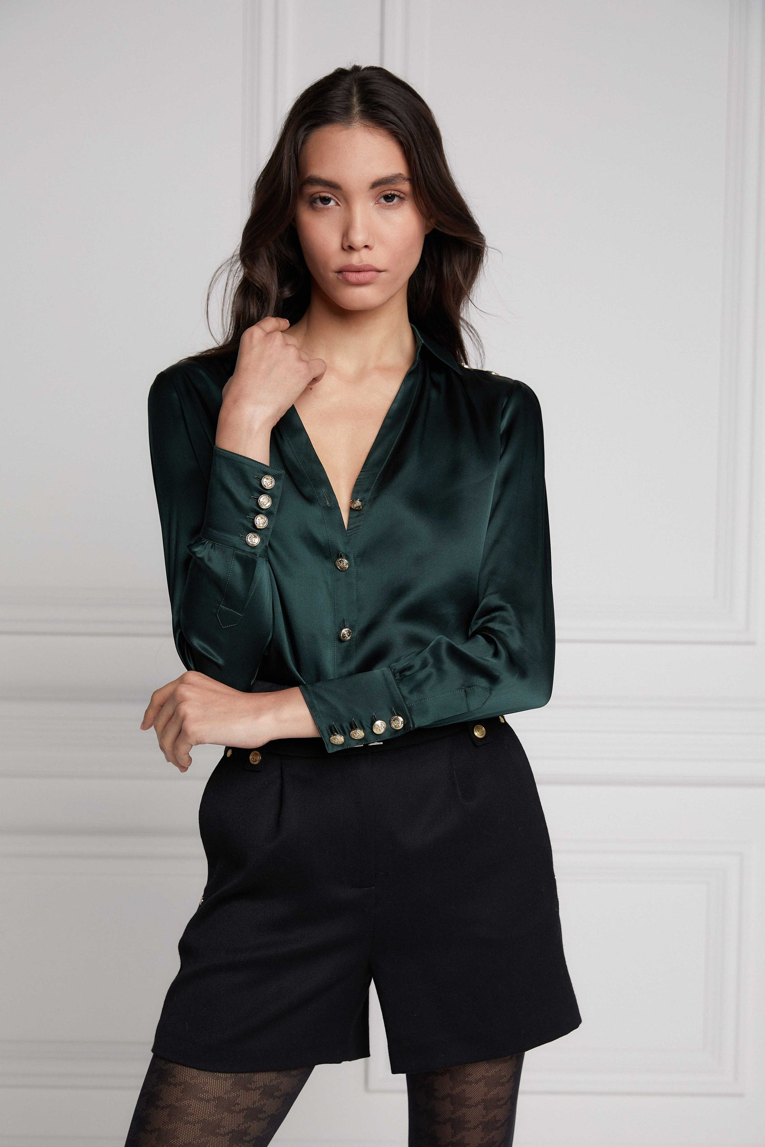 HC Silk Shirt Emerald