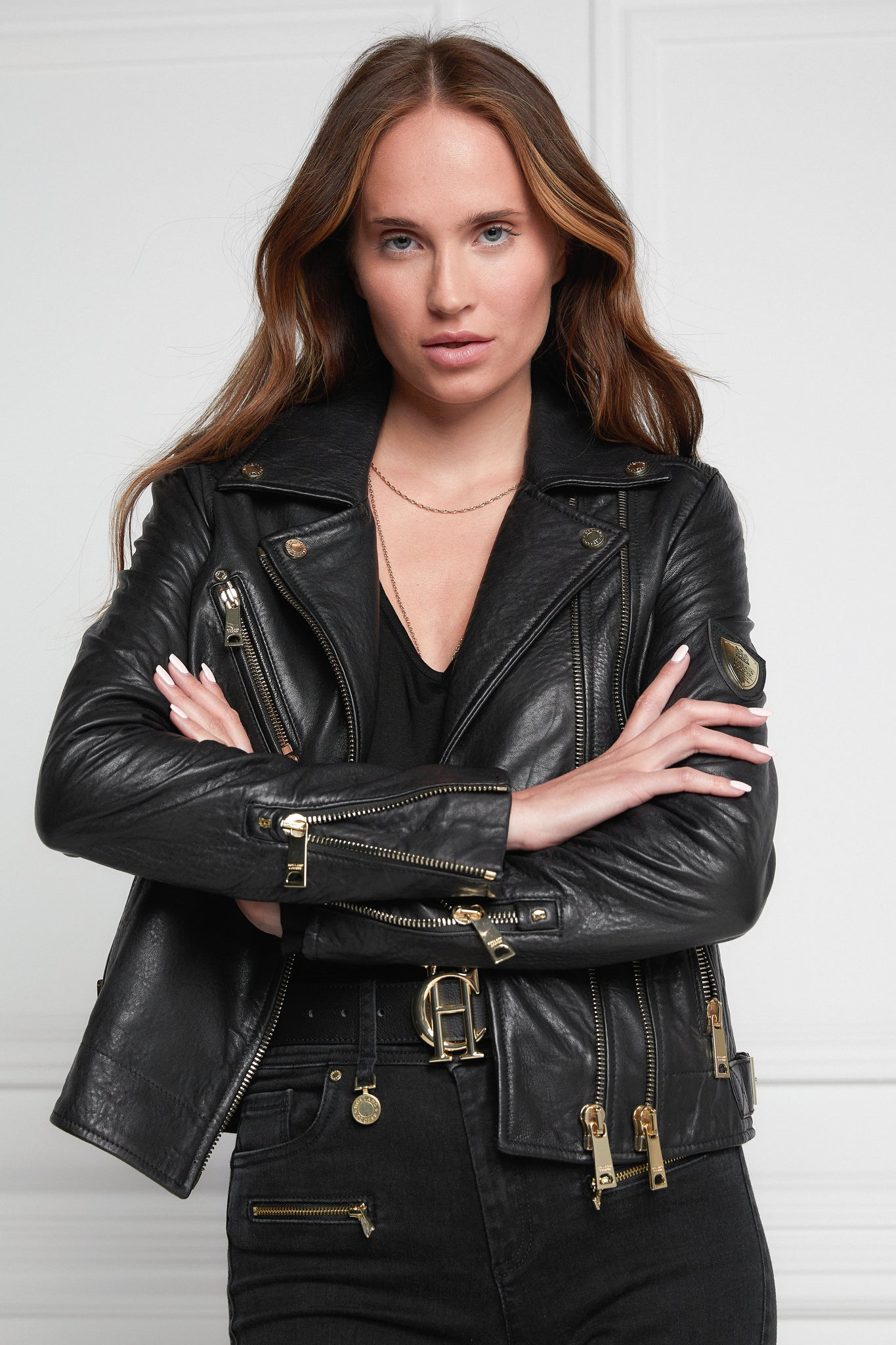 Leather Biker Jacket (Black)
