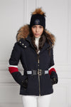 Aspen Tri Colour Puffer Jacket (Ink Navy Red White)